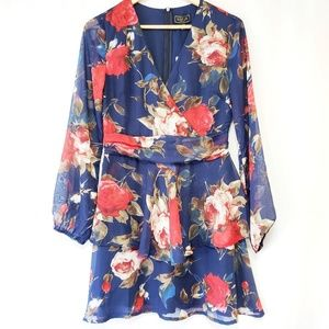 Lipsy London Long Sleeve Floral Dress